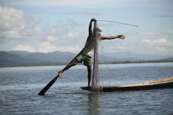Pêcheur – lac Inle, Birmanie